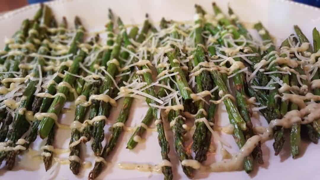 PESTO ASPARAGUS made with Rustlin' Rob's Pesto Aioli